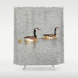 Canadian Geese Family Shower Curtain