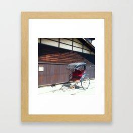 Japanese Rickshaw Framed Art Print