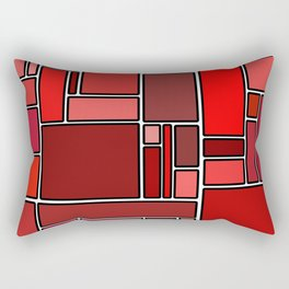 Fifty shades of red Rectangular Pillow