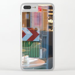 Street Reflection red green Clear iPhone Case