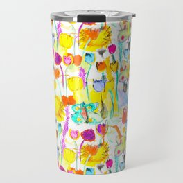 Childhood Butterfly's in a Spring Garden Travel Mug