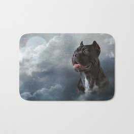 Drawing oil painting dog breed Cane Corso Bath Mat
