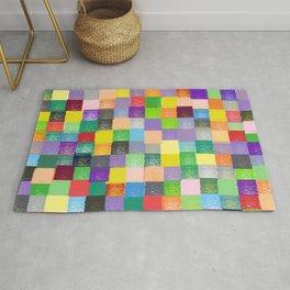 Pixelated Patchwork Rug