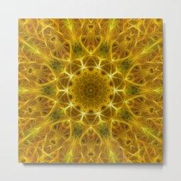 Golden Abstract Tile 73 Metal Print