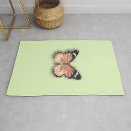 monarch butterfly with shadow Rug