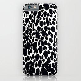 ANIMAL PRINT CHEETAH #5 BLACK AND WHITE PATTERN iPhone Case