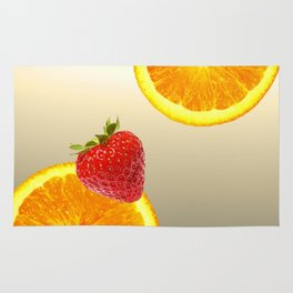 Oranges and Strawberry Rug