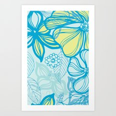 Oceanic Floral  Art Print