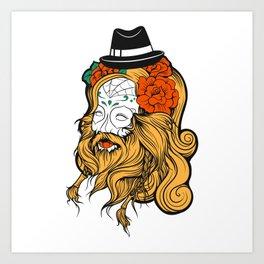 Bearded Women Girl Art Print