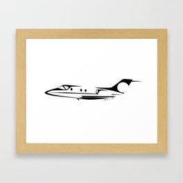 Minimalist T-1 Jayhawk Framed Art Print
