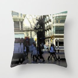 Saturday 9 March 2013: crass monsoon / benchmark splurge Throw Pillow