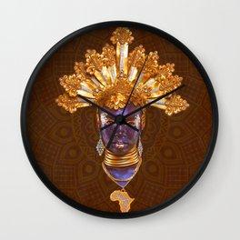 Golden Africa Wall Clock