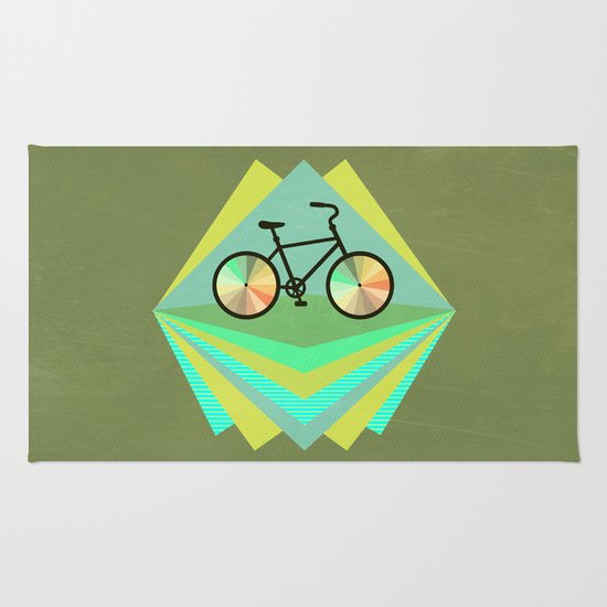 wanna ride my bicycle Rug