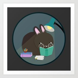 Study Bunny Art Print