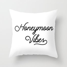 Honeymoon Vibes Newlywed Design Throw Pillow