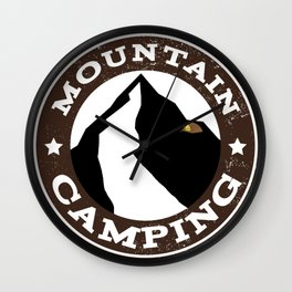 Mountain Camping Wall Clock