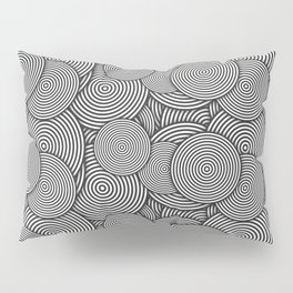 Monochrome Circles Concentric Polygons Pillow Sham