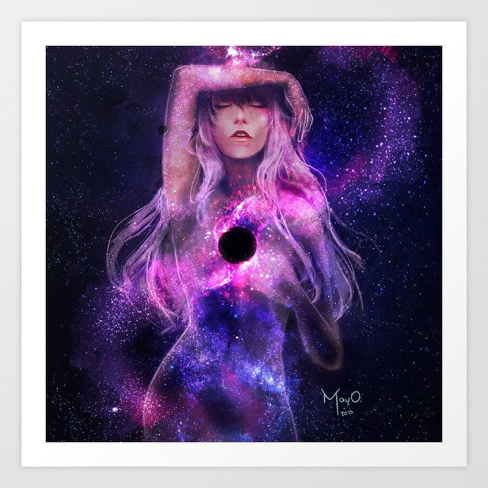 Supermassive Black Hole Art Print
