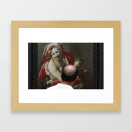 Painting Watching Person Framed Art Print