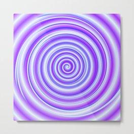 PurpleBlue Rolls Metal Print