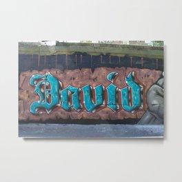 Graffiti Name Tag DAVID Metal Print