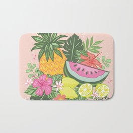 Tropical Summer Cluster Bath Mat