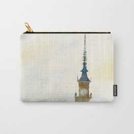 Palace of Culture in clouds Warsaw Carry-All Pouch