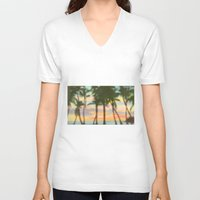 palm V-neck T-shirts featuring palm by OVERall