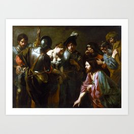 Valentin de Boulogne Christ and the Adulteress Art Print