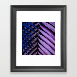 Leaves pink and blue Framed Art Print