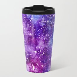 Artistic white paint splatters pink purple watercolor Travel Mug