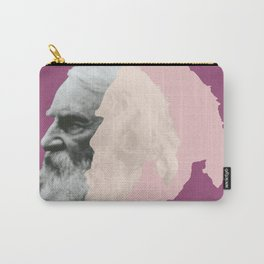 Henry Wadsworth Longfellow - portrait purple and white Carry-All Pouch