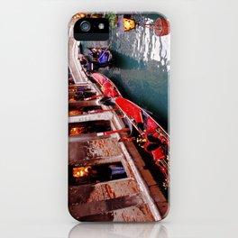 Gondolas On A Small Venetian Canal iPhone Case