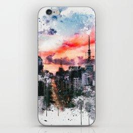 Sao Paulo - WaterColor 002 iPhone Skin