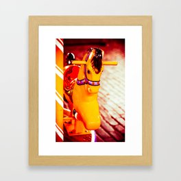 Yellow Hobby Horse Framed Art Print