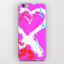 Pink Graffiti Ribbon for Breast Cancer Research by Jeffrey G. Rosenberg iPhone Skin