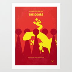 No573 My Doors minimal movie poster Art Print