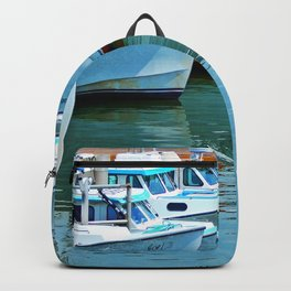 Boats Reflected Backpack