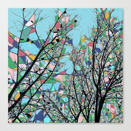 Abstract Multi-coloured Forest 1772 Canvas Print