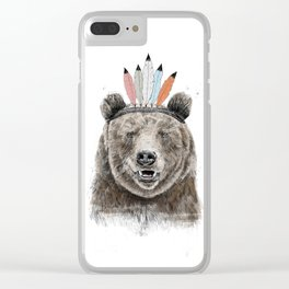 Festival bear Clear iPhone Case