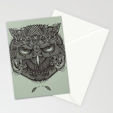 Warrior Owl Face Stationery Cards