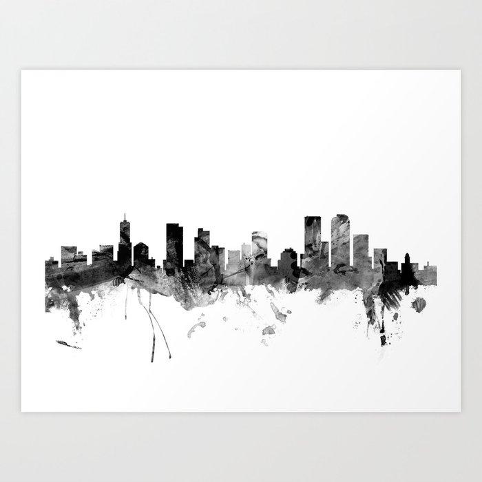 Denver Colorado Skyline Art Print By Artpause