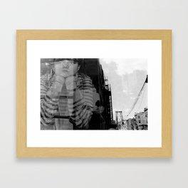 Williamsburg Bridge Analog Framed Art Print