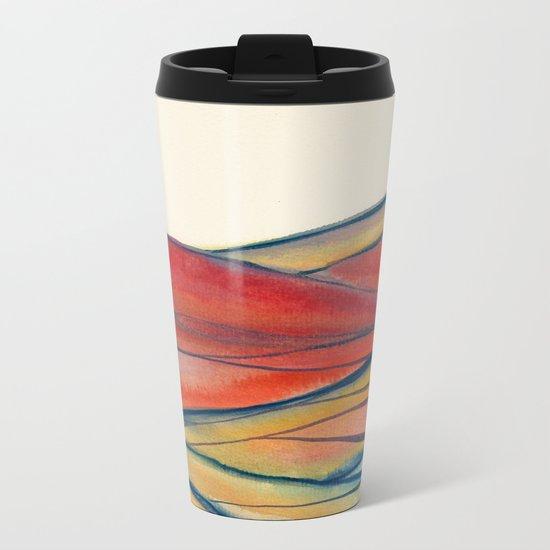 Watercolor abstract landscape 28 Metal Travel Mug