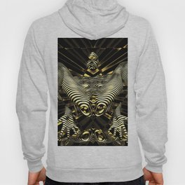 8788-KMA Resistance is Futile Gold Android Ready to Serve Abstract Sensual Figure Hoody
