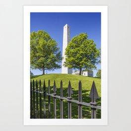 BOSTON Bunker Hill Monument Art Print