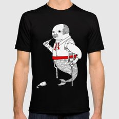 On the merman's propensity towards intemperance, pugnacity, and adultery Black MEDIUM Mens Fitted Tee