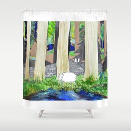 lost sheep Shower Curtain