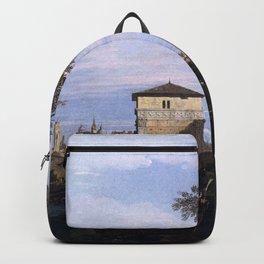 Canaletto - Capriccio with Ruins and Porta Portello, Padua Backpack
