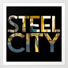 Pittsburgh Steel City Skyline Bridge 412 Photo Print Art Print
